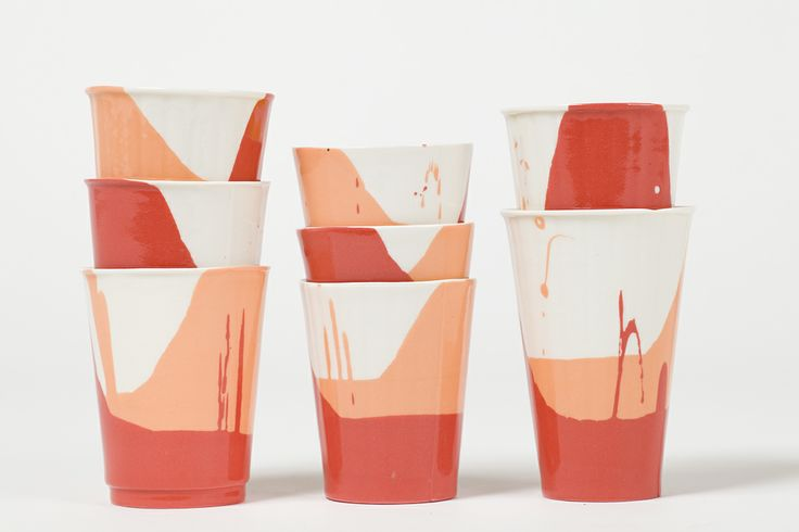 Harry & Harriet is a collaboration between ceramists, Dale Frances and Alana McVeigh. The pair use disposable packaging to cast a range of functional beakers and serving dishes that are practical and stylish. Photo: Bo Wong
