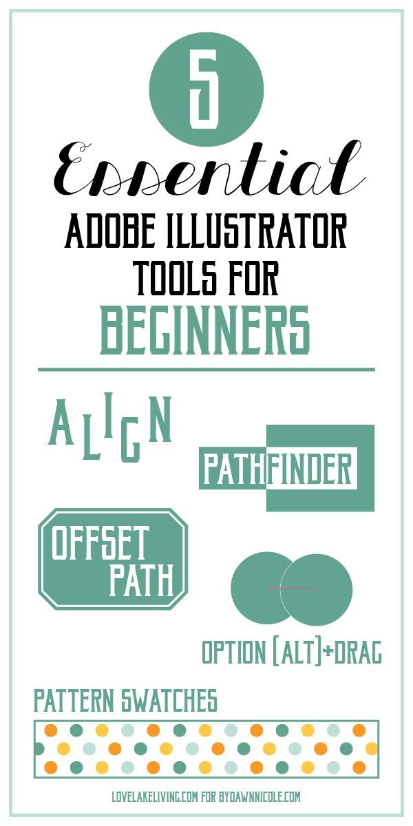 Adobe #Illustrator for Beginners: The 5 Most Essential #Tools | Love Lake Living for bydawnnicole.com: