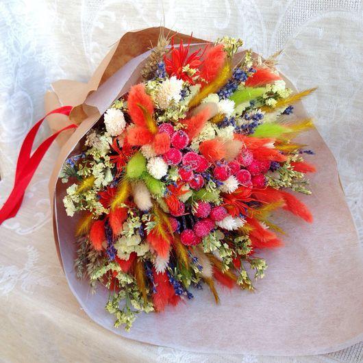 """Букеты ручной работы. Ярмарка Мастеров - ручная работа. Купить Букет """"Лаванда и рябина"""". Handmade. Сухоцветы, шебби-шик, цветы"""
