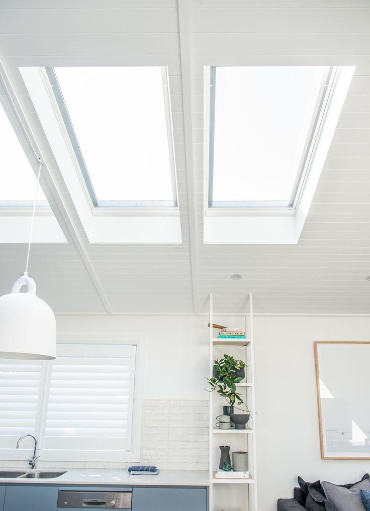 Velux Windows over the kitchen zone.