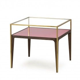 rubylite side table pink glass tracey boyd resource decor rh pinterest com