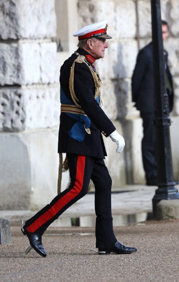 Prince Philip, Duke of Edinburgh attends The Royal Marines 350th Anniversary Beating Retreat at The Royal Horseguards on 04.06.2014 in London, England.