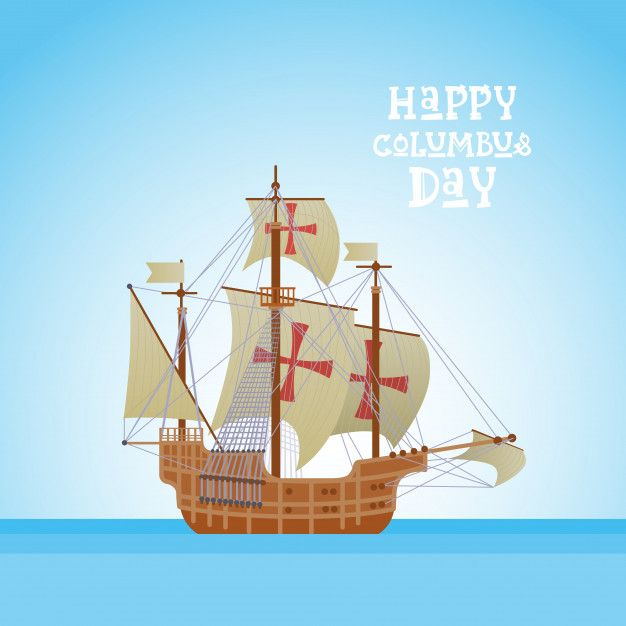 Happy Columbus Day National Usa Holiday Happy Columbus Day Holiday Greeting Cards Holiday Greetings