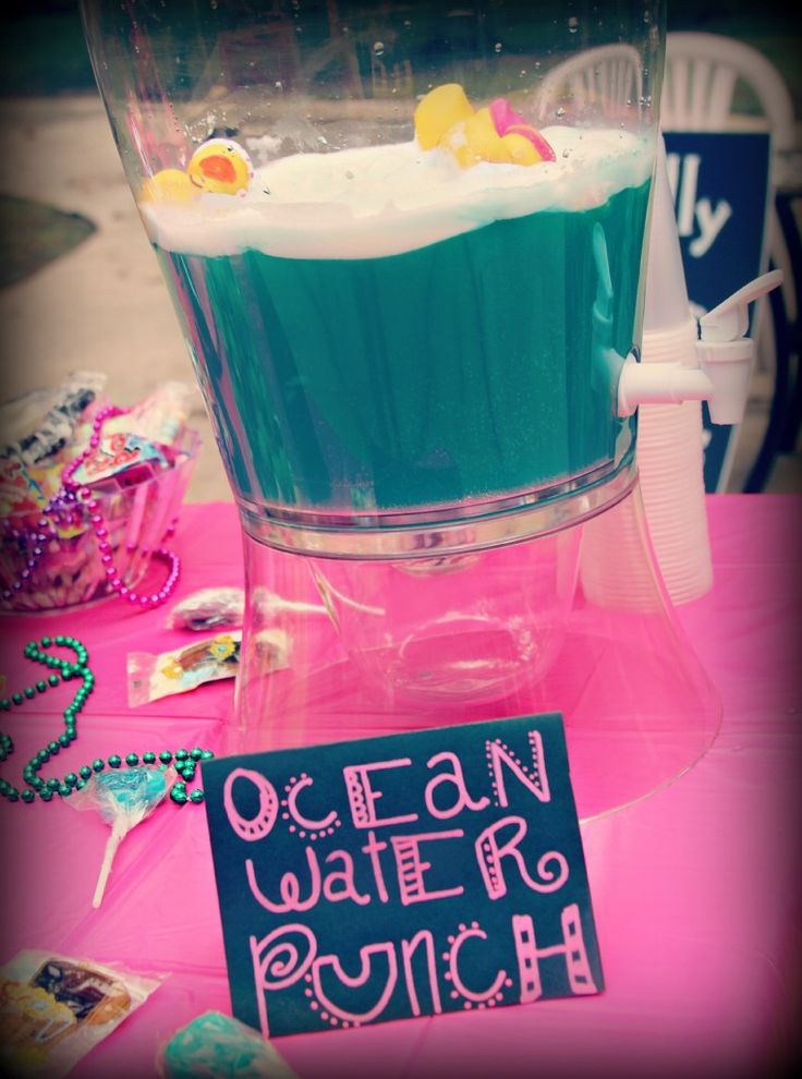 Ocean Water Punch for a pirate party!