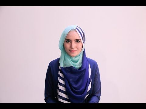 "▶ Hijab Tutorial 63 ""Chiffon Stripes Shawl"" by Zahratul Jannah - YouTube"