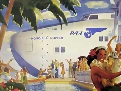Pan Am in Hawaii:  Video on Pan Am Historical Foundation YouTube Channel. #Pan Am #panam #Hawaii #posters #ad #video #travel #aviation #history #panam.org