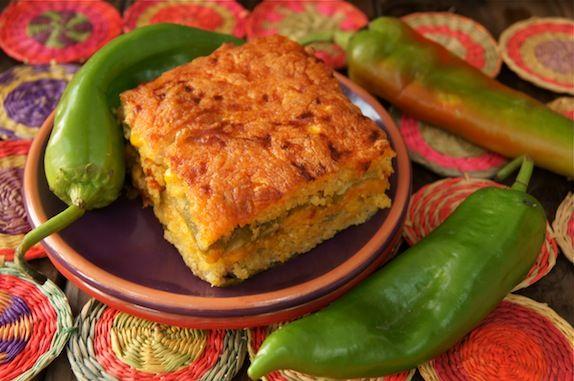 Roasted Hatch Chile Cornbread Casserole OMG Tamale Pie!  I am trying this asap.... mouth watering.... mmmmmmmmm