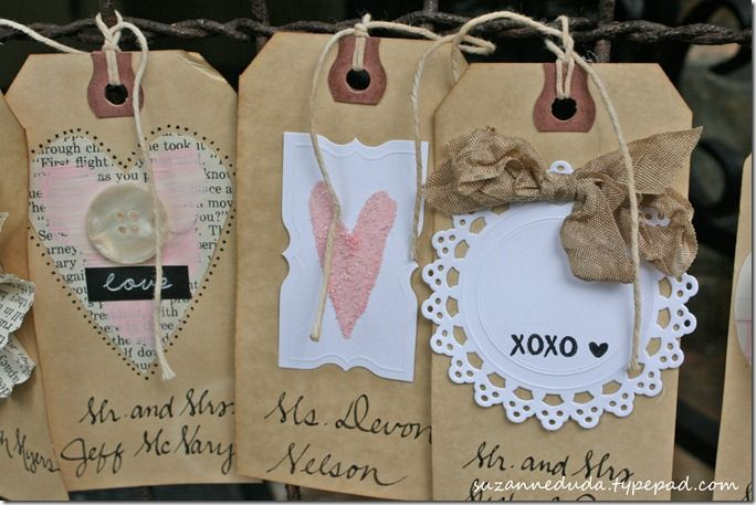 LOTS of darling tags!Heart Tags, Kraft Paper, Cute Cards, Escort Cards, Cards Tags, Gift Tags, Valentine Gift, Pink Rose, Paper Cards