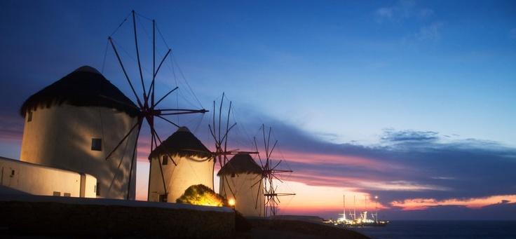 The windmills at Mykonos.