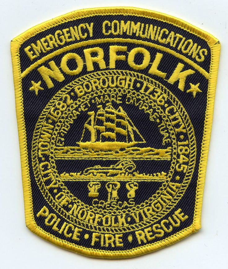 NORFOLK VIRGINIA VA 9-1-1 Dispatcher EMERGENCY COMMUNICATIONS FIRE POLICE PATCH in Virginia   eBay