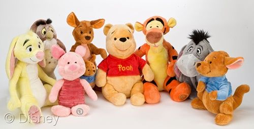 winnie the pooh roo baby plush toys | Winnie The Pooh plush toys are 11″-16″ tall. That makes them the ...