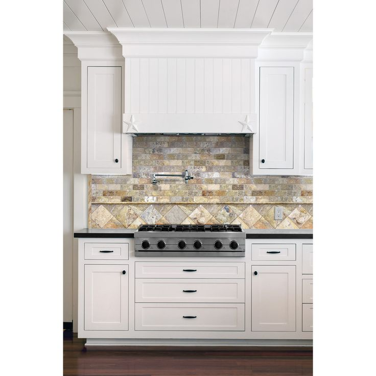 shop scabos tumbled natural stone mosaic subway wall tile