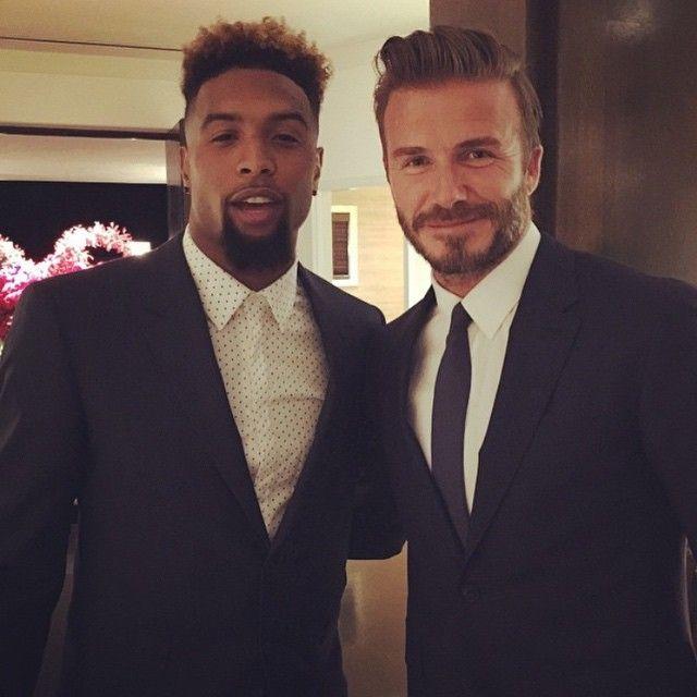 Odell Beckham Jr & David Beckham