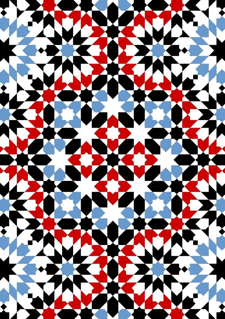 Morrocan Fez pattern from the French Bourgoin's  'Arabic Geometrical Patterns and Designs'