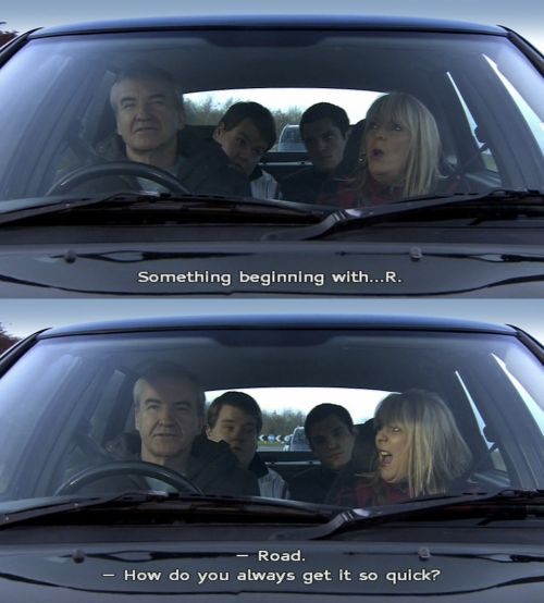 """When she was utterly hopeless at Eye Spy. 