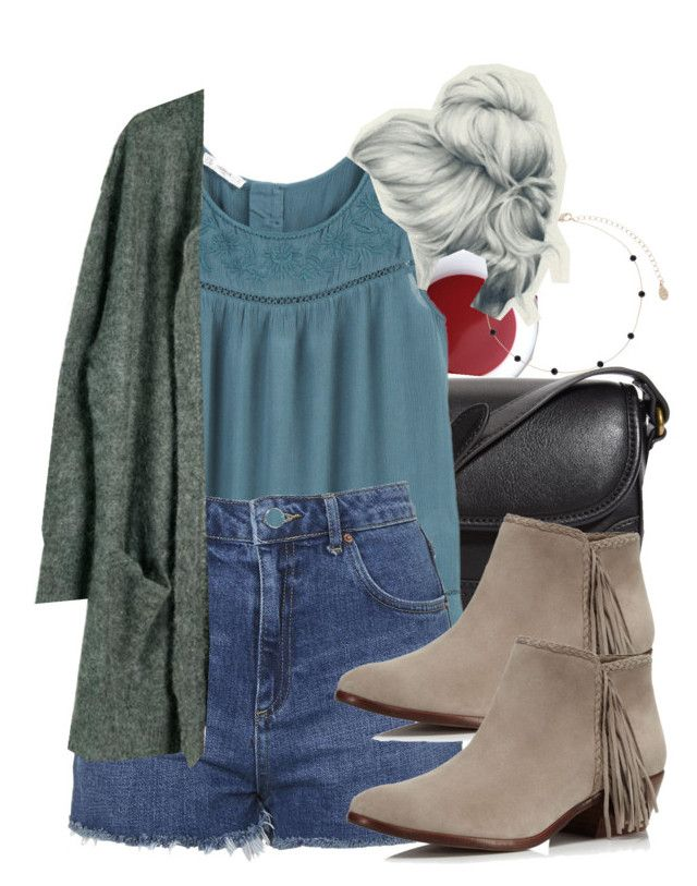 """""""Bonnie inspired casual family reunion outfit with choker necklace"""" by tvdstyleblog ❤ liked on Polyvore featuring Korres, Forever 21, MANGO, Topshop, Julie Fagerholt Heartmade, Sam Edelman and Accessorize"""