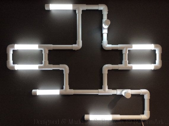Wall Led lights Industrial Sculpture  Terminal by SerSonAntiques