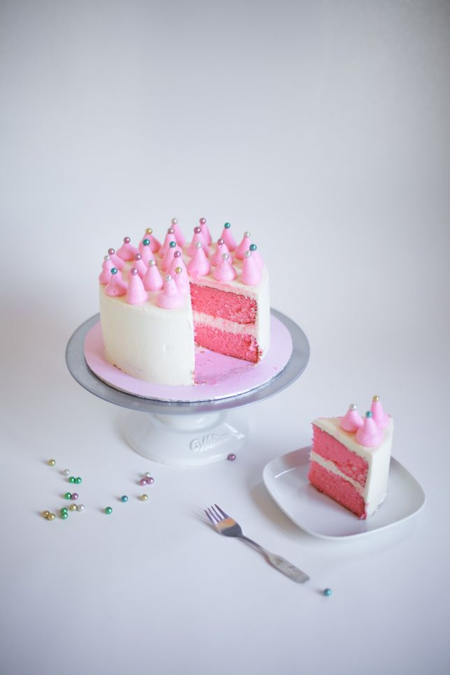 pink party cake tutorial - coco cake land