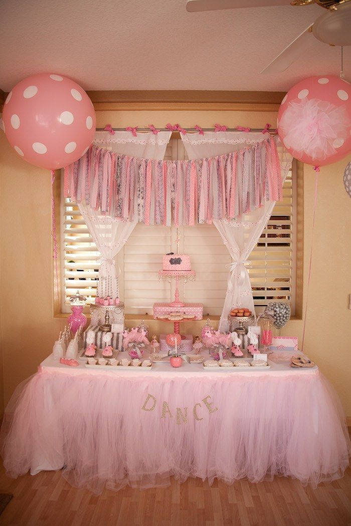 Princess/ballerina themed party