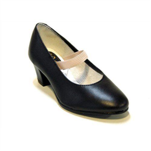Flamenco zapatos de piel de cabra en color blanco/Beige, color blanco, talla 41