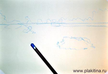Как нарисовать маковое поле пастелью (шаг №1)