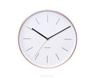Zegar ścienny - Karlsson - Minimal white