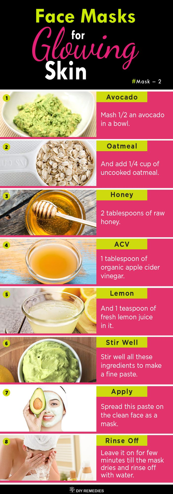 Avocado and Honey Mask for Glowing Skin Avocado is a great ...