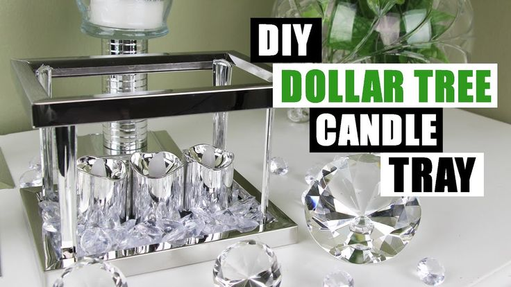 t's another Dollar Tree DIY project! This time I show you how to make a DIY Dollar Tree glam decor candle holder display tray for an easy and cheap DIY home ...
