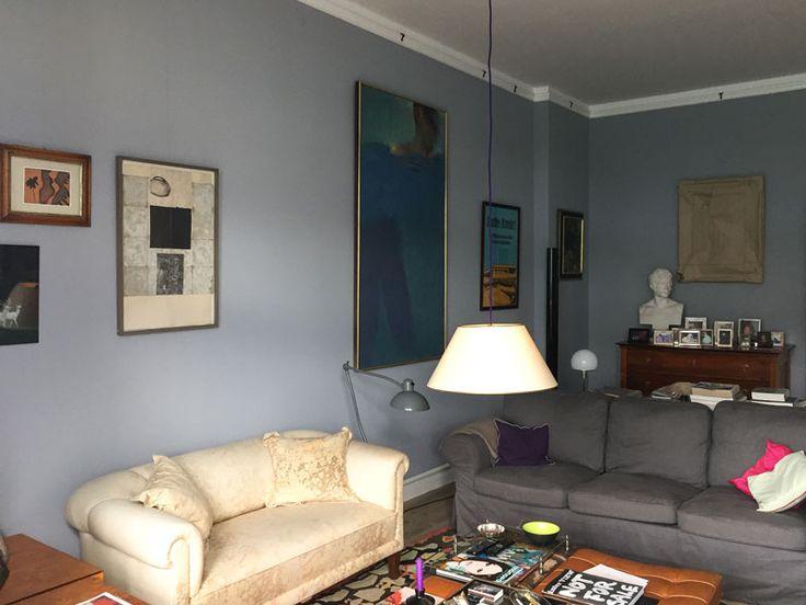 Wohnzimmer In Understatement No 167 Kreidefarbe Wandfarbe Wandfarbegrau