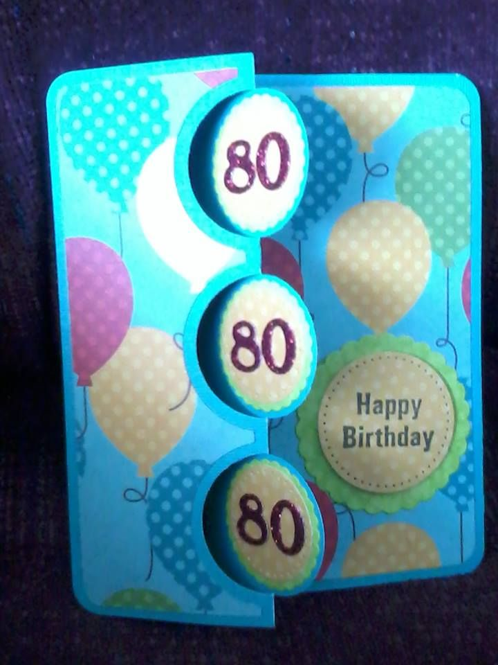 Commemorate a milestone birthday like this birthday card that Jeannette made with Sizzix Flip It Triple Circles card dies. Simple Pleasures Stamps and Scrapbooking.