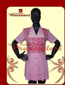 Blus Ploy Pink Bahan Batik Lasem
