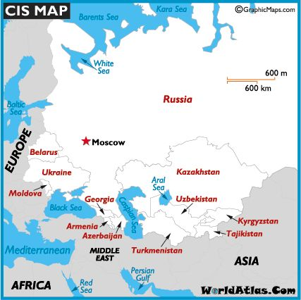 Cis Map of the Commonwealth of Independent States Map History Information Page
