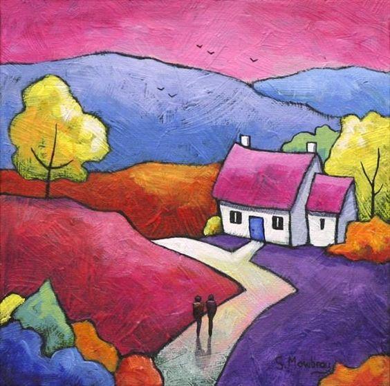 361 best GILLIAN MOWBRAY ART images on Pinterest Folk art - plexiglas für küche