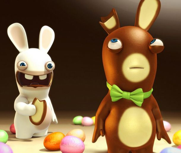 rabbids easter stuff your basket with a bonus game from ubisoft - Raving Rabbids Halloween Costume