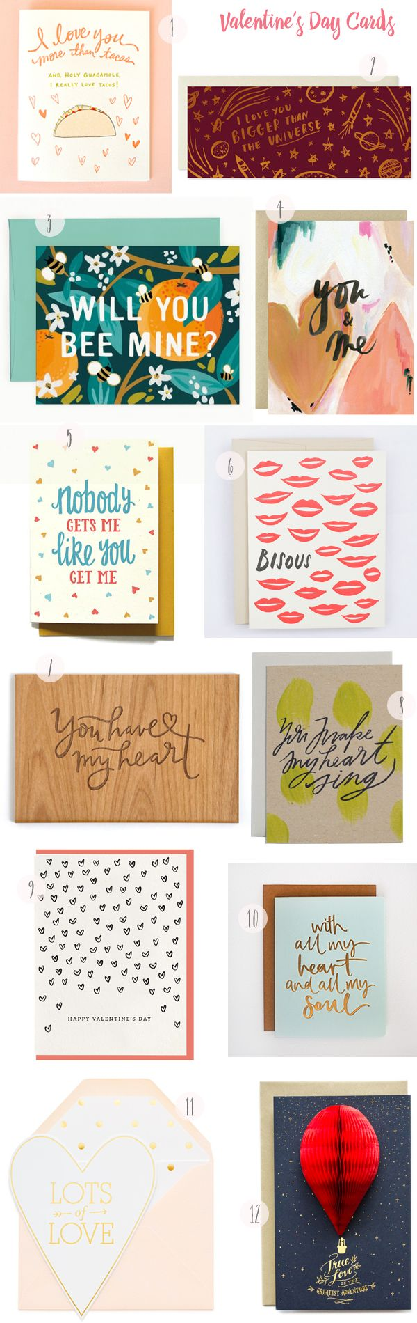 Seasonal Stationery: Valentine's Day Card Round Up / Oh So Beautiful Paper