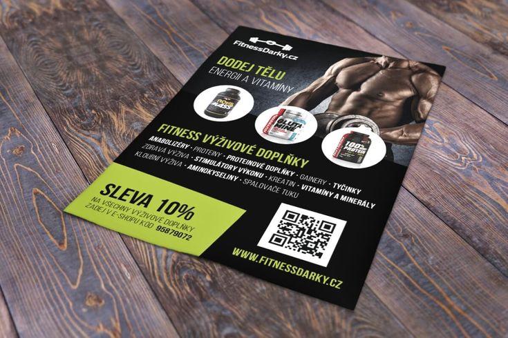 Leták pro e-shop FitnessDarky.cz #flyerdesign #flyer #fitness