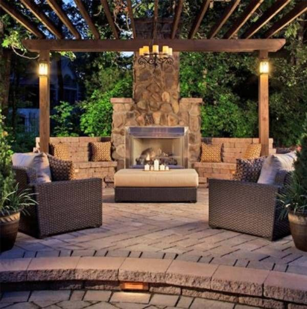78 ideas about outdoor fireplaces on pinterest outdoor - Outdoor fire place designs ...