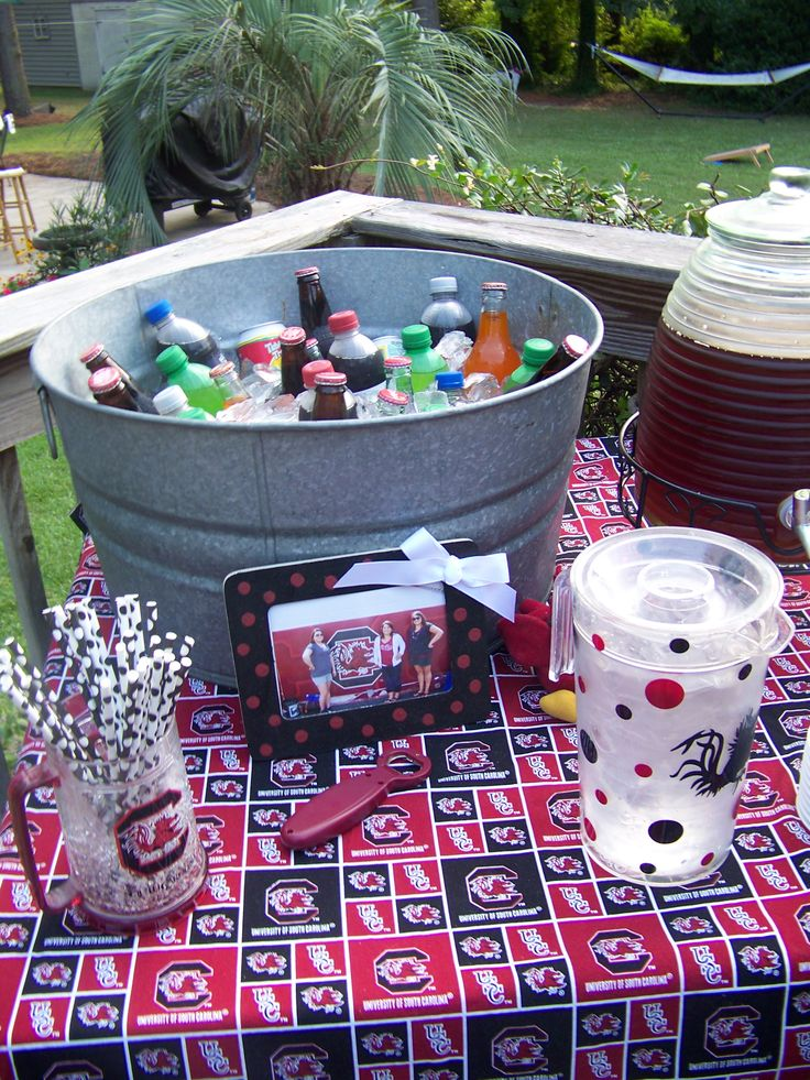 2013 South Carolina tailgating Party. Drink Table.