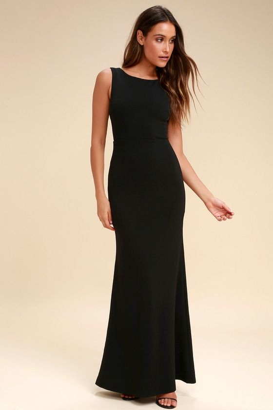 c9229bb8ba97f Hollywood Boulevard Black Backless Maxi Dress in 2019 | Wedding ...