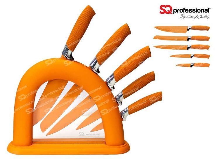 sqpro endurance lot de 5 couteaux professionnel au design. Black Bedroom Furniture Sets. Home Design Ideas
