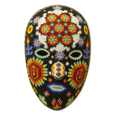 Novica Huichol Peyote Mask Wall Décor