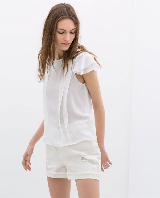 Image 1 de TOP FLUIDE VOLANTS de Zara