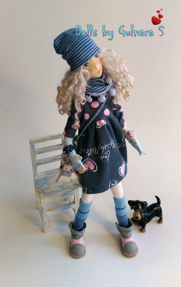 Ручная работа Текстильная кукла. авторская работа