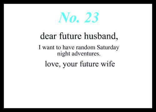 dear future husband quotes - Google Search