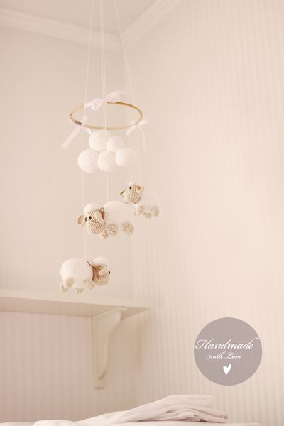25 best ideas about sheep mobile on pinterest crochet mobile felt mobile and farmhouse baby. Black Bedroom Furniture Sets. Home Design Ideas