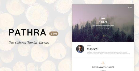 Pathra | One-column Focused Blogging Theme