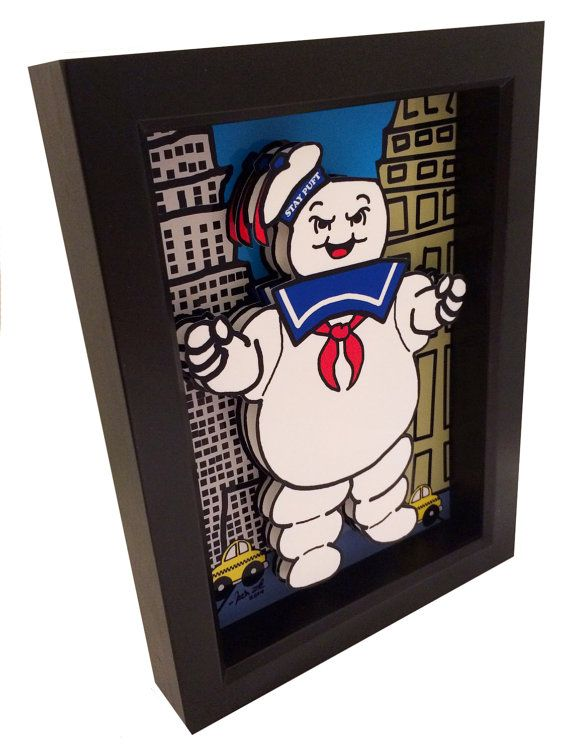 Stay Puft Marshmallow Man Ghostbusters Movie Poster por PopsicArt