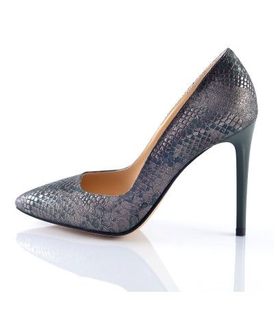 Pantofi stiletto sarpe verde