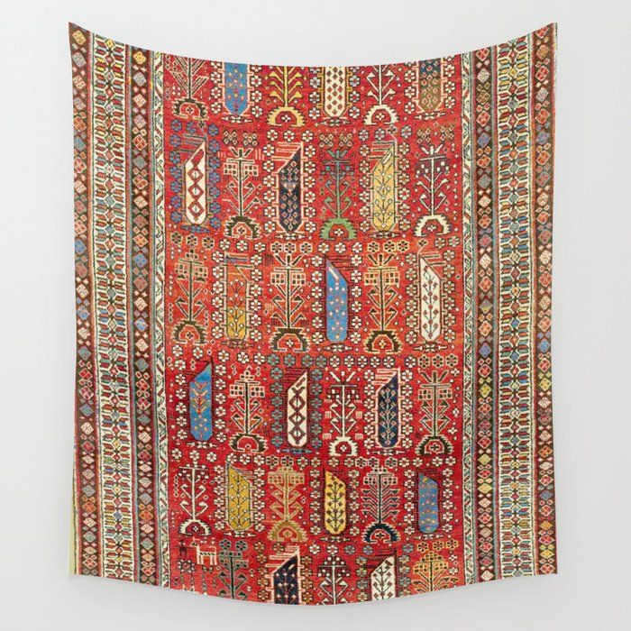 Shirvan Caucasian Antique Carpet Wall Tapestry By Vickybragomitchell Society6 Antique Carpets Wall Tapestry Wall Prints