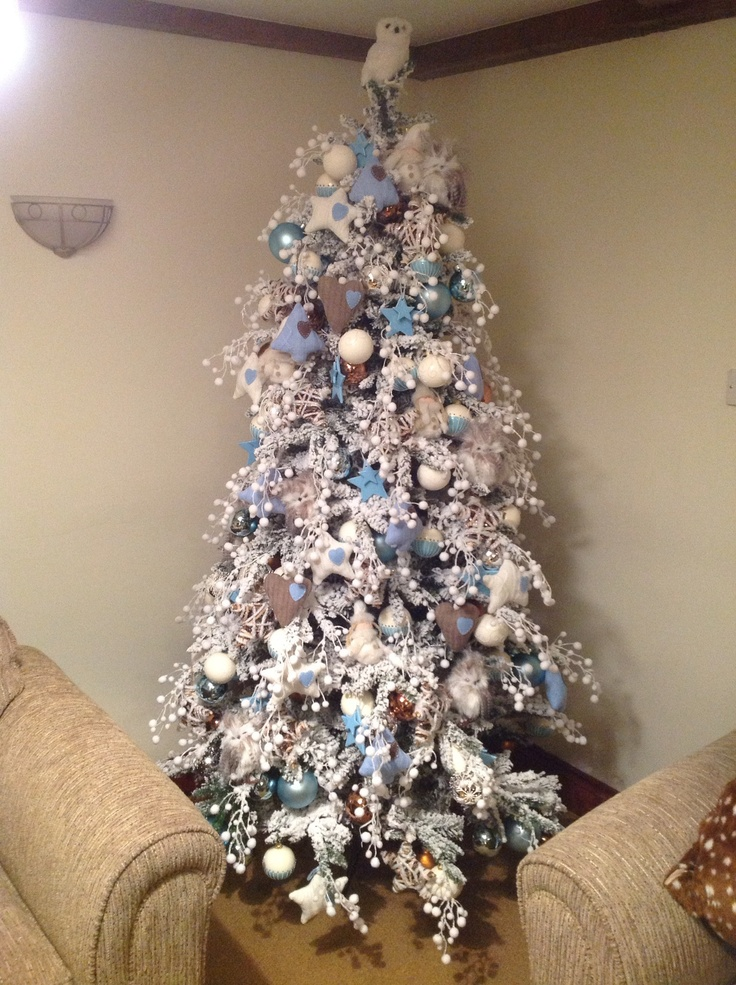 100 best images about xmas tree decorating on pinterest - Blue themed christmas tree ...